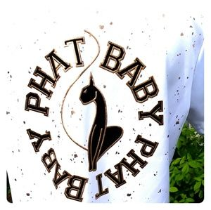 Baby Phat womens white and gold jersey